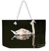 Swan Reflection Weekender Tote Bag