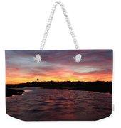 Swan River Sunset Weekender Tote Bag