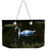 Swan Solitude Weekender Tote Bag