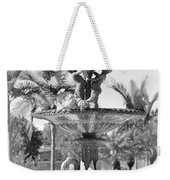 Swan Statue - Black And White With Vignette Weekender Tote Bag