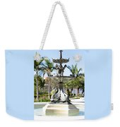 Swan Fountain In Lakeland Weekender Tote Bag