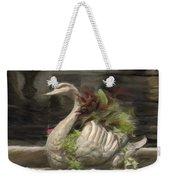 Swan With Beautiful Flowers Weekender Tote Bag