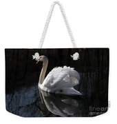 Swan With Reflection  Weekender Tote Bag