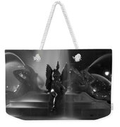 Swann Fountain At Night In Black And White Weekender Tote Bag