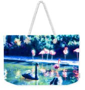 Swans And Flamingos Weekender Tote Bag