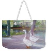 Swans At Smithville Park Weekender Tote Bag
