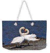 Swans Courting Weekender Tote Bag
