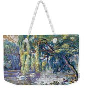 Swans Family . Forest Of Boulogne  Weekender Tote Bag