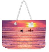 Swans On The Lake Weekender Tote Bag by Jon Neidert