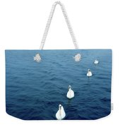 Swans On The Vltava River, Prague Weekender Tote Bag