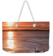 Swans Sunrise Weekender Tote Bag