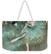 Swaying Dancer .dancer In Green Weekender Tote Bag