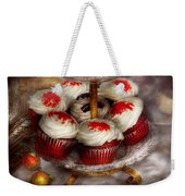 Sweet - Cupcake - Red Velvet Cupcakes  Weekender Tote Bag by Mike Savad