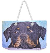 Rottweiler's Sweet Face Weekender Tote Bag