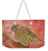 Sweet Female House Finch 3 - Digital Paint Weekender Tote Bag