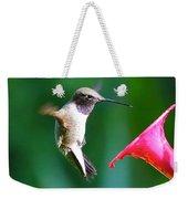 Sweet Hummingbird Birthday Card Weekender Tote Bag