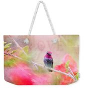 Sweet Hummingbird Love Weekender Tote Bag