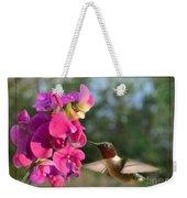 Sweet Pea Hummingbird II Weekender Tote Bag