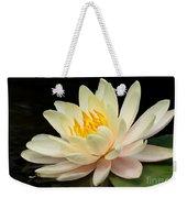 Sweet Peach Water Lily Weekender Tote Bag