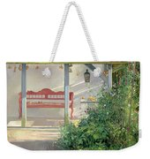 Sweet Peas And Autumn Harvest Oil On Canvas Weekender Tote Bag