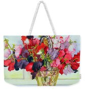 Sweet Peas In A Vase Weekender Tote Bag