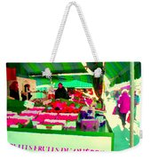 Sweet Ripe Strawberries Petits Fruits Du Quebec Direct From Farmers Market Food Art Carole Spandau  Weekender Tote Bag