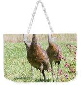 Sweet Sandhill Crane Family Weekender Tote Bag