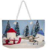 Sweet Sleigh Ride Weekender Tote Bag by Heather Applegate