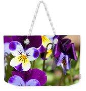 Sweet Viola Weekender Tote Bag