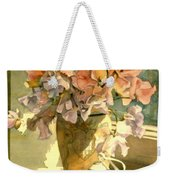 Sweetpea On The Windowsill Weekender Tote Bag
