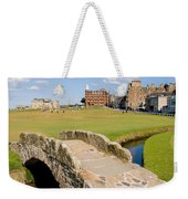 Swilcan Bridge On The 18th Hole At St Andrews Old Golf Course Scotland Weekender Tote Bag