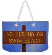 Swim Beach Sign II Weekender Tote Bag