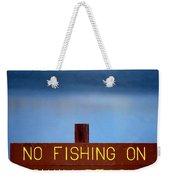 Swim Beach Sign Weekender Tote Bag