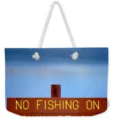 Swim Beach Sign L Weekender Tote Bag