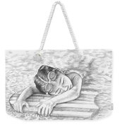 Swimming Girl Weekender Tote Bag