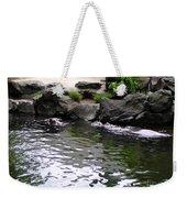 Swimming Hippo Weekender Tote Bag