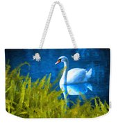 Swimming Swan And Ferns Weekender Tote Bag
