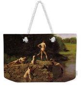 Swimming Weekender Tote Bag by Thomas Eakins