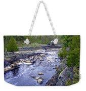 Swing Bridge Over The River Weekender Tote Bag
