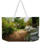 Swing In The Garden Weekender Tote Bag by Sandy Keeton