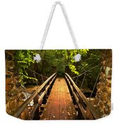 Swinging Bridge Weekender Tote Bag