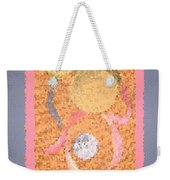 Swirl Body Bubble Person Dancing With Ribbons Twirling Weekender Tote Bag