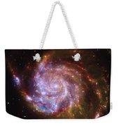 Swirling Red Galaxy Weekender Tote Bag
