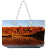 Swirling Reflections With Fall Colors Weekender Tote Bag by Dan Friend