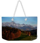 Swiss Alpine Scene Weekender Tote Bag