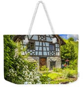 Swiss Chalet In The Garden Weekender Tote Bag by Debra and Dave Vanderlaan