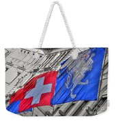Swiss Flags  Weekender Tote Bag