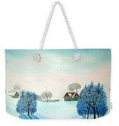 Swiss Opus Blue Christmas Weekender Tote Bag