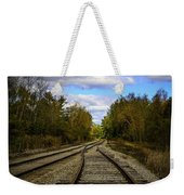 Switching Tracks Leaving Leafing Weekender Tote Bag