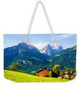 Switzerland Oil On Canvas Weekender Tote Bag